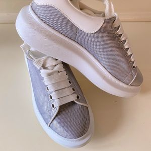 Alexander McQueen lilac purple platform sneakers